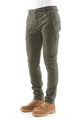 Eleven Paris - Pantalon - Homme - Chino Chaplin Corde Vert pour homme - 29   Amazon.fr  Vêtements et accessoires 6aa4a8bf4d8