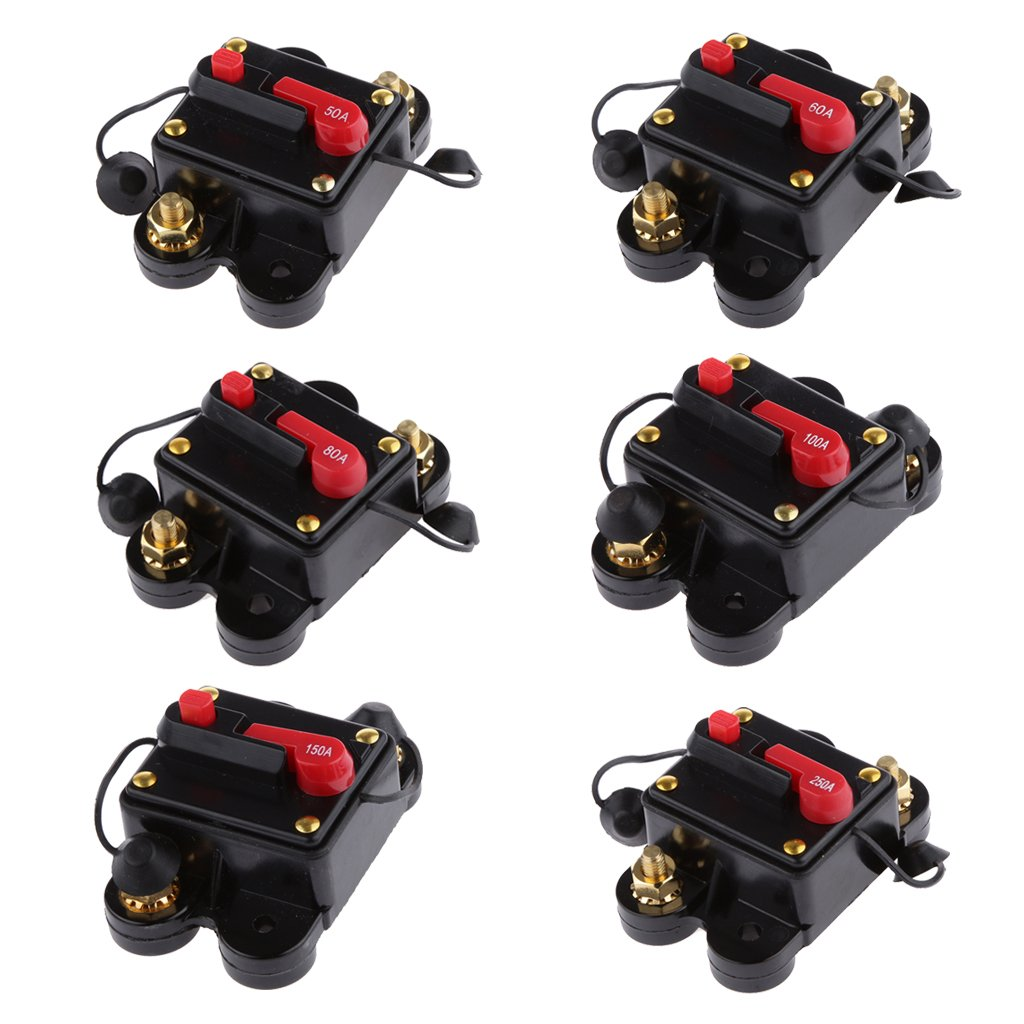 12v 24v Inline Auto Waterproof Circuit Breaker 50 Amp Manual Reset Automotive Fuse Switch Fuses Amazon Canada