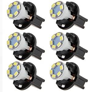CARCHET® 6 x T10 0.2W 6 LED 1210 SMD Bombilla Luz Blanco
