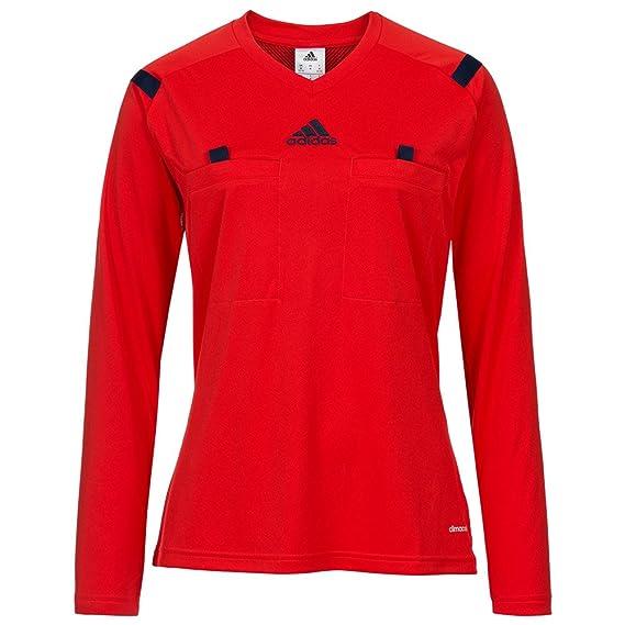 adidas Ref 14 W Camiseta de Árbitro Camiseta Referee Rojo de Árbitro de Fútbol Para Mujer: Amazon.es: Deportes y aire libre