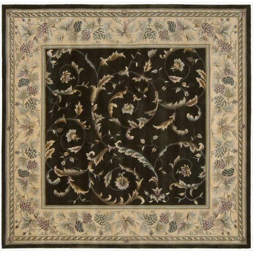 - Nourison Versailles Palace (VP01) Olive Square Area Rug, 8-Feet by 8-Feet  (8' x 8')