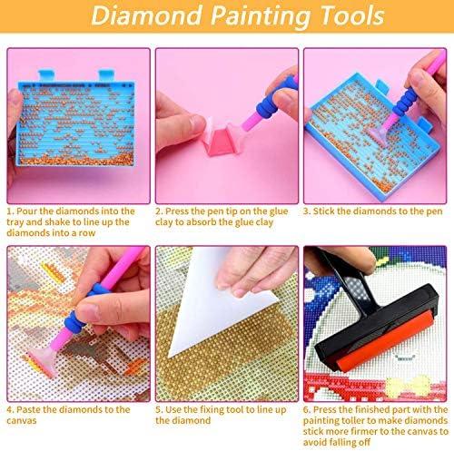 YJYQ Beaux Outils De Peinture De Diamant Kit Daccessoires De Peinture De Diamant De Bricolage De Conteneur De R/éservoir De Palette Stockage De Plateau De Diamant
