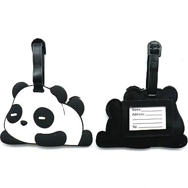 Amazon.com: Huele 2 piezas silicona panda etiqueta de ...