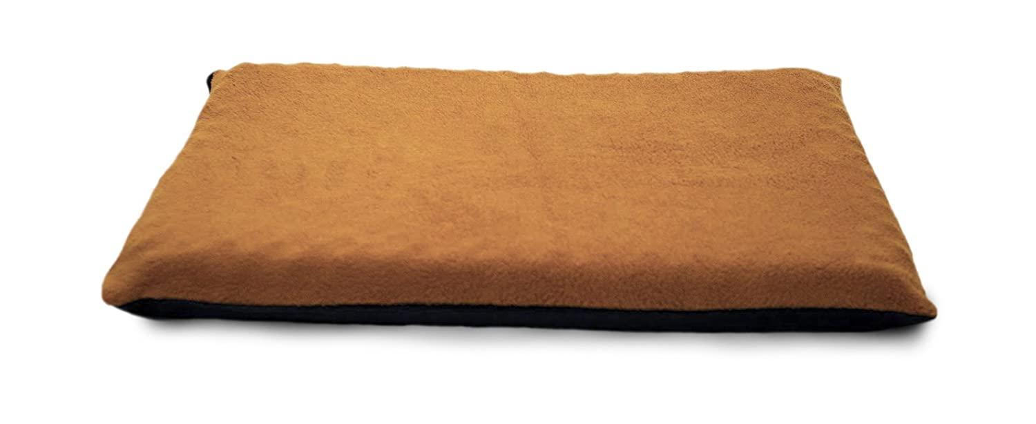 FurHaven Pet Dog Bed   Memory Foam Terry Pet Bed for Dogs & Cats, Camel, Large