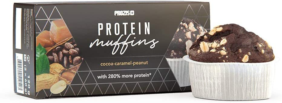 Prozis 2 x Protein Muffins – Cacao, caramelo y Araquidos 60 g ...