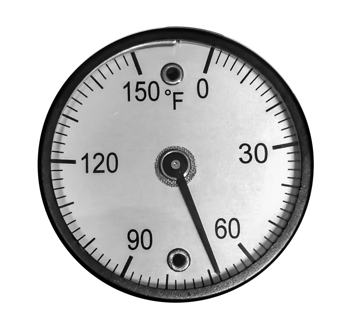 CNSG 2'' Dial Magnetic Thermometer - -100-160 Degrees F