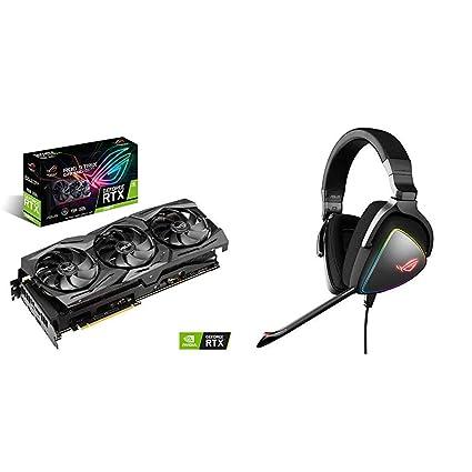ASUS ROG Strix GeForce RTX 2080 Ti - Tarjeta gráfica + ROG Delta - Auriculares gaming RGB con Hi-Res ESS Quad-DAC