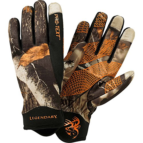 Camouflage Thinsulate Hunting Gloves (Legendary Whitetails Spider Web II Pro-Text Glove Big Game Field Camo Medium)