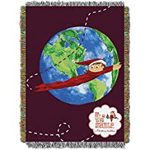 Northwest NOR-1EOS051000002RET 48 x 60 in. The Elf on the Shelf, Elf Travels Woven Tapestry Throw