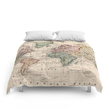 Amazon society6 vintage map of the world 1833 comforters full society6 vintage map of the world 1833 comforters full 79quot gumiabroncs Gallery