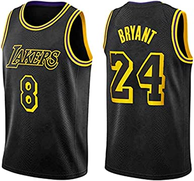Camiseta de Puro algod/ón JRJ Kobe Bryant 8 Baloncesto Jersey Hombres Camisa De Manga Corta Ropa para Sudadera