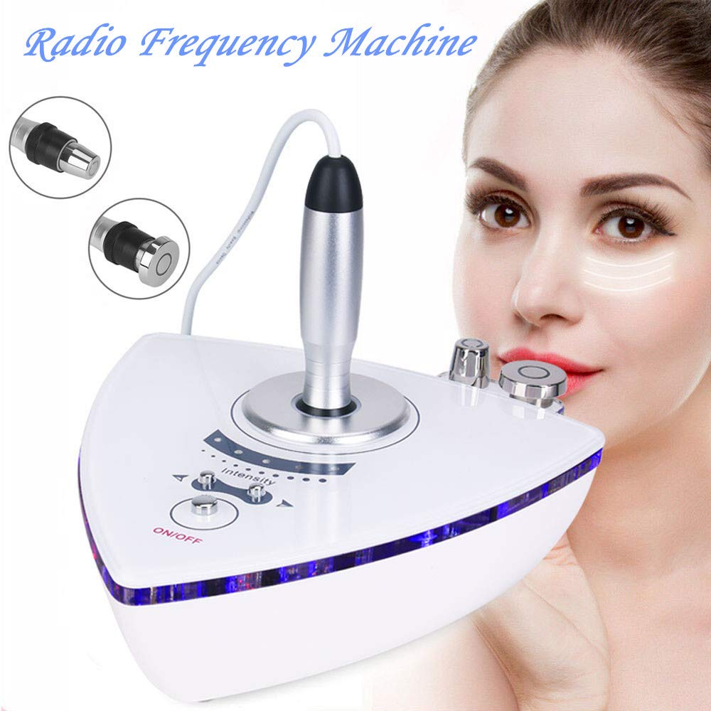Radio Frequency Facial Machine Home Use Tightening and Face Skin Care Massager RF Beauty Device Portable with Two Probes for Lifting by Meifuly