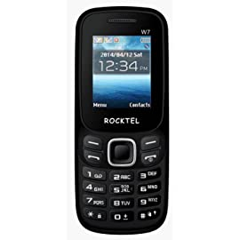 Rocktel W7 Dual SIM Mobile  GSM + GSM  with 1.77 inch Display Keypad,Bluetooth, Camera  Black
