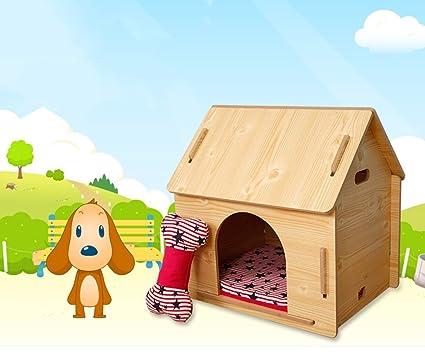 SX-ZZJ %Productos para Mascotas Casa de Perro de Madera Casa de Mascotas Casa
