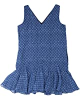 Lauren Ralph Lauren Womens Chiffon Sleeveless Casual Dress Blue 6