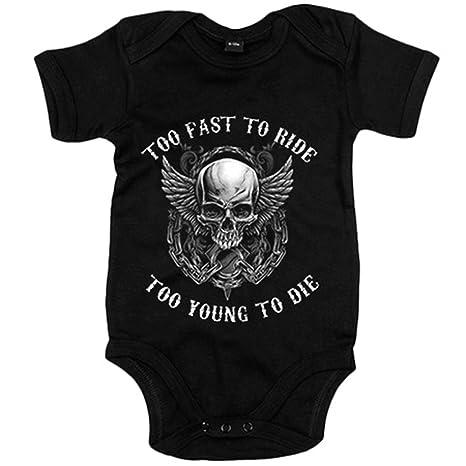 Body bebé para moteros Calavera Too Fast To Ride Too Young ...