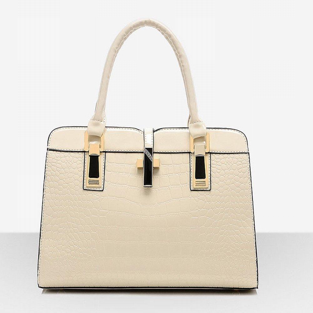 Weibliche Tasche Ol Pendler Mode Krokodil Muster Farbe Leder Stereotypen Weiblichen Handtasche Schulter Mutter Tasche , nicht-gerade weiss