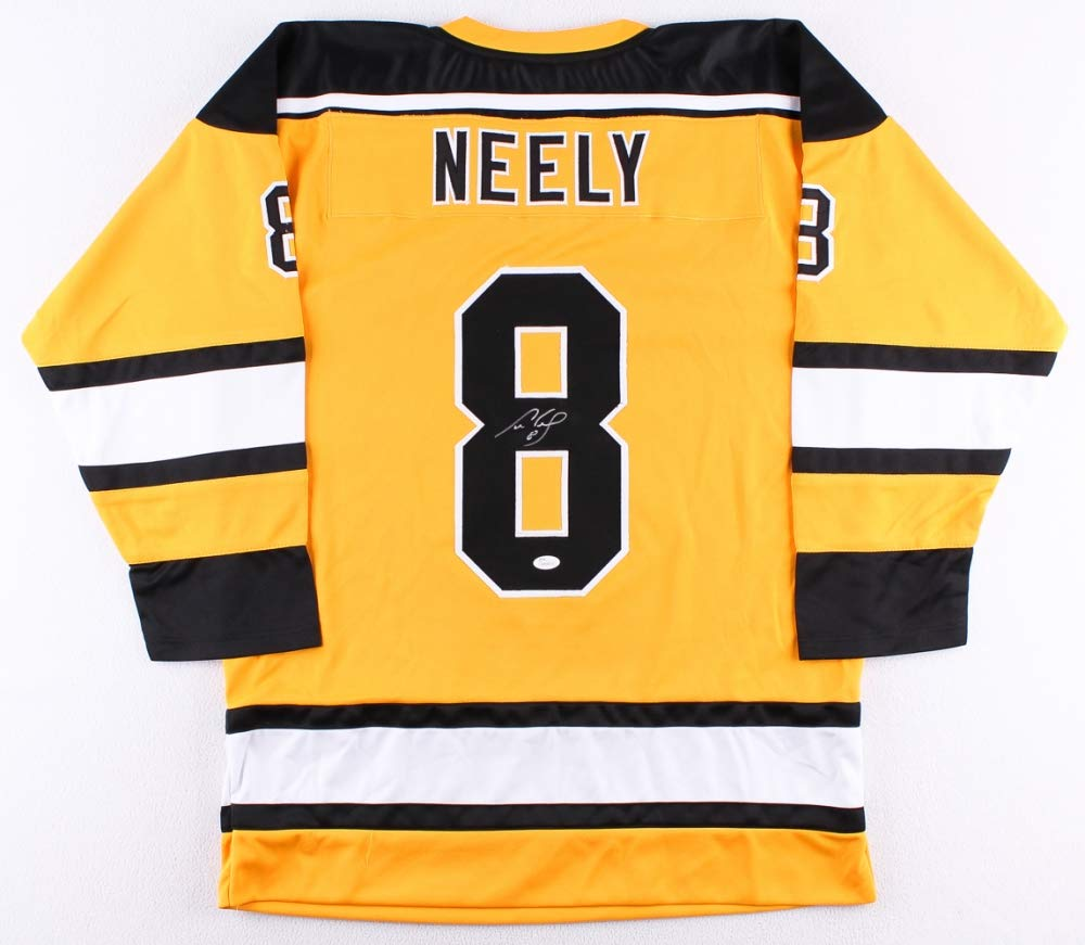 Cam Neely Autographed Yellow Boston Bruins Jersey Hand Signed By Cam Neely and Certified Authentic by JSA Includes Certificate of Authenticity