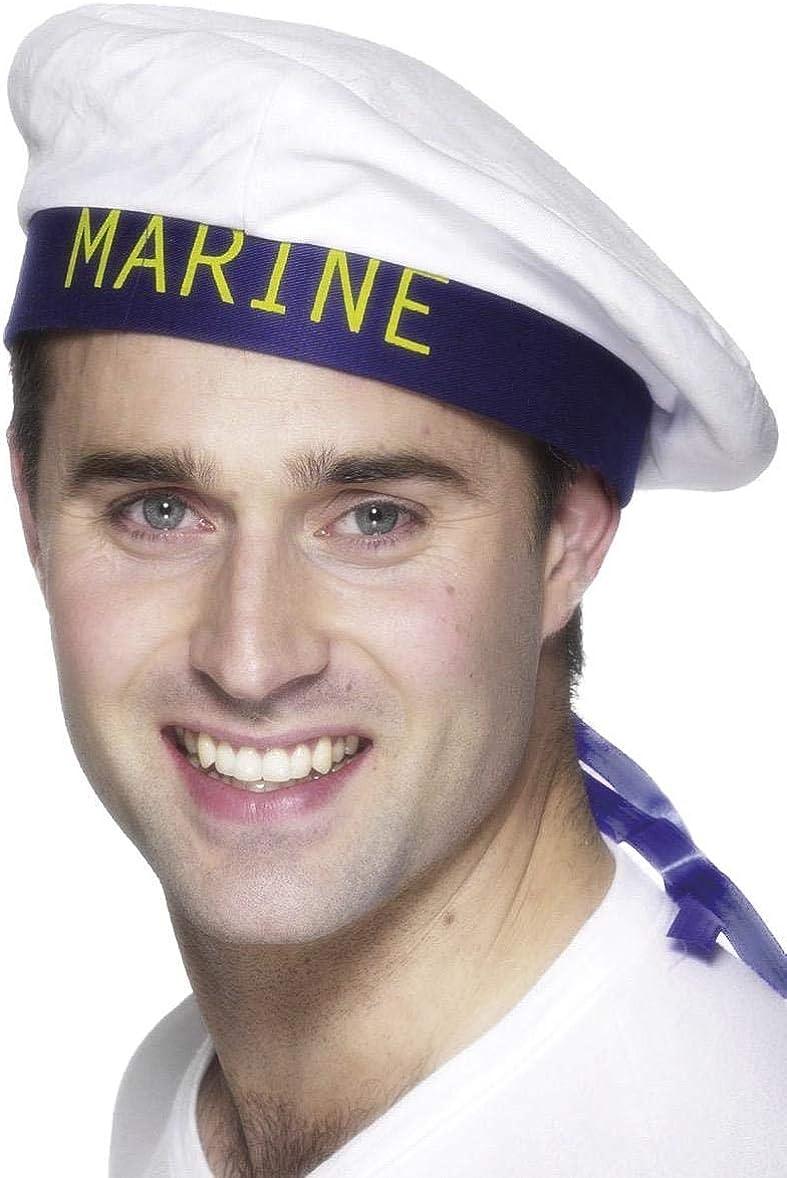 Fancy Dress White Doughboy Marine Sailor Hat Costume Unisex 6//12//18//24