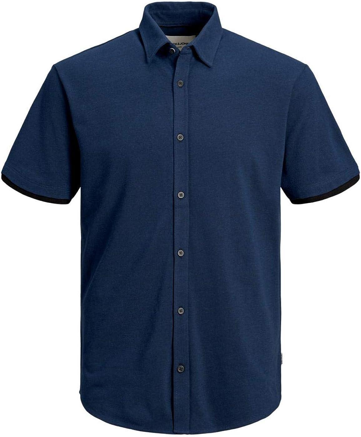 Jack & Jones JCOMERCURY Shirt SS Plain Chinese-W S: Amazon.es ...