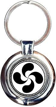 Basque Cross Lauburu Keychain Key Ring