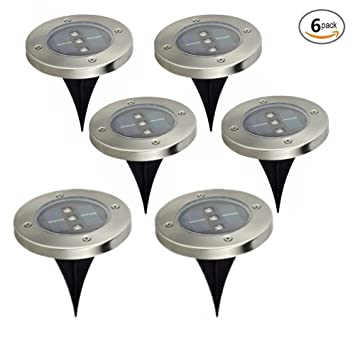 In ground lights 4 pack solar powered ground light outdoor lights in ground lights 4 pack solar powered ground light outdoor lights waterproof led solar path aloadofball Image collections