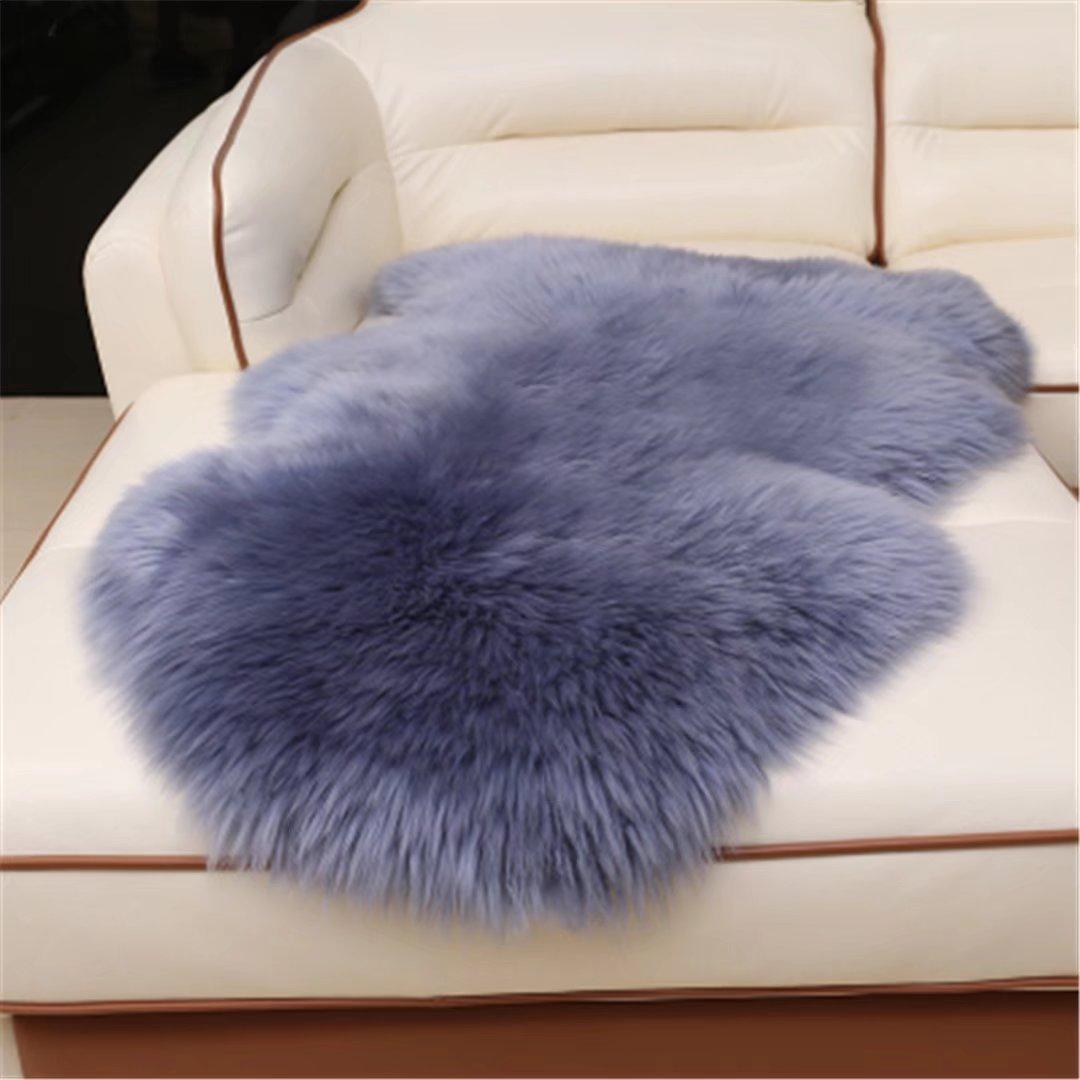 Genuine Australian Sheepskin Rug for Babies-Singel Natural Luxuriously Soft Lambskin Wool Meng Ge