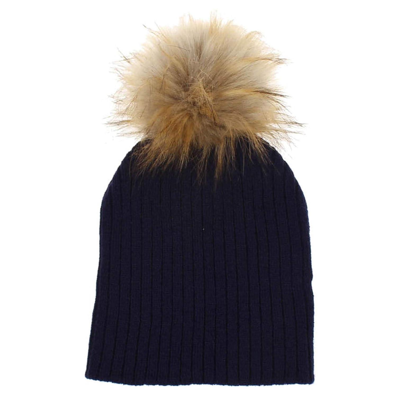 722b62eba18 Baby girls knit warm hat beanie cap with pom poms black clothing jpg  1500x1500 Beanie hats