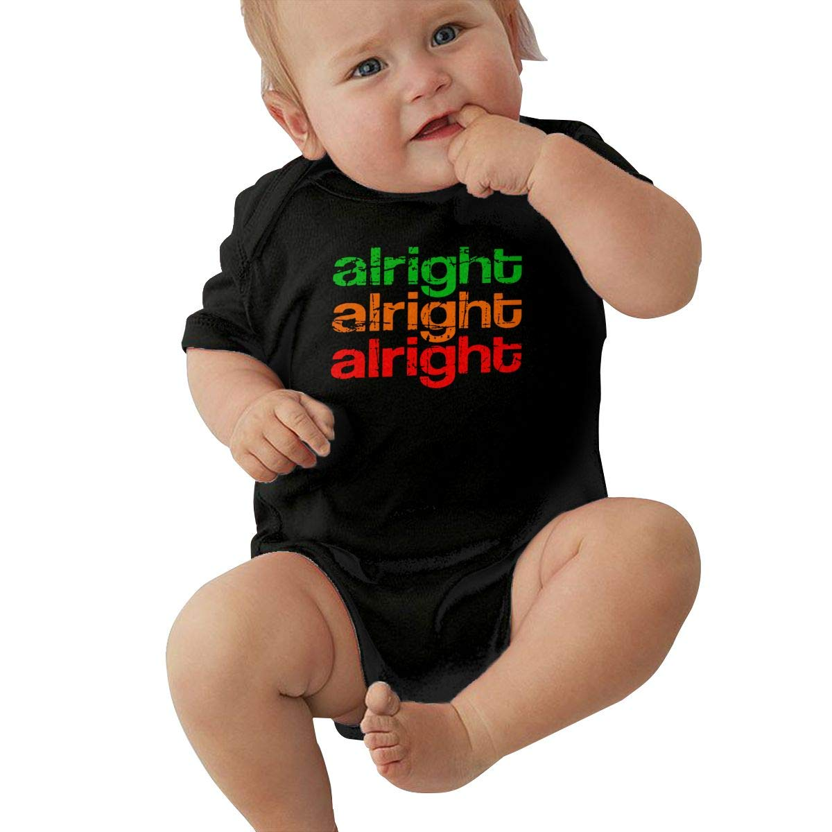 JJKKFG-H Retro Alright Cute Summer Baby Infant Girls /& Oys Short Sleeve Romper Jumpsuit Bodysuit Shirt