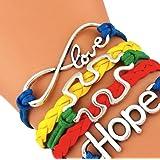 Autism Awareness Bracelet - Autism Jewelry, Adjustable Autism Bracelet- Hope Charm Bracelet- Puzzle Piece Bracelet- Perfect Gift!!!