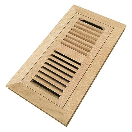 Homewell White Oak Wood Floor Register, Flush Mount Vent with Damper, 4x10 Inch, Unfinished - - Amazon.com