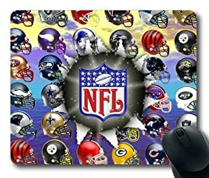 NFL Logo Mouse Pad/Mouse Mat Rectangle by ieasycenter