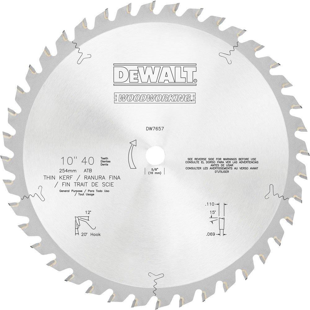 DEWALT DW7657 40T General Purpose Blade, 10-Inch