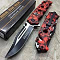 Tac Force Red Skull Head Handle Pocket Hunting Tactical hunting Handy Knife