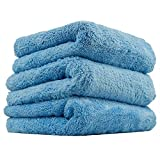 Chemical Guys MIC35003 Happy Ending Edgeless Microfiber Towel, Blue - 16 in. x 16 in. (Pack of 3)