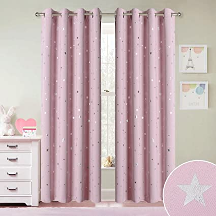 Delicieux Light Pink Nursery Blackout Curtains   RYB HOME Decor Thermal Insulated  Room Darkening Light Block Drapes