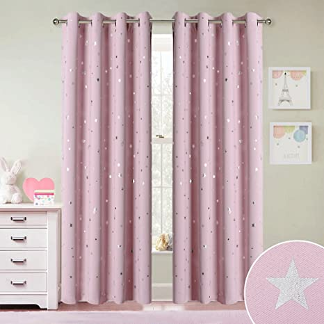Light Pink Nursery Blackout Curtains