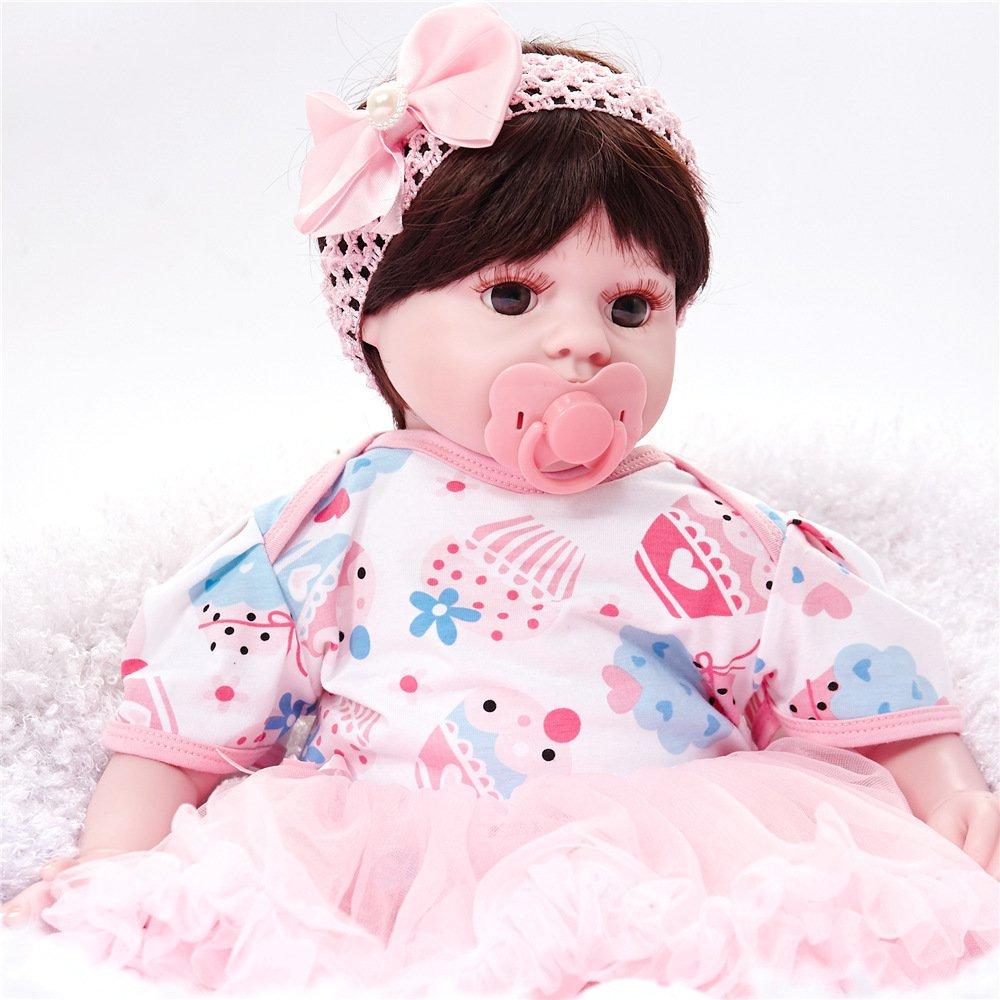 bajo precio 50cm QXMEI Simulación Baby Rebirth Doll Doll Doll 50cm marrón Eyes Silicona Doll Juguetes para Niños,50cm  envío gratis