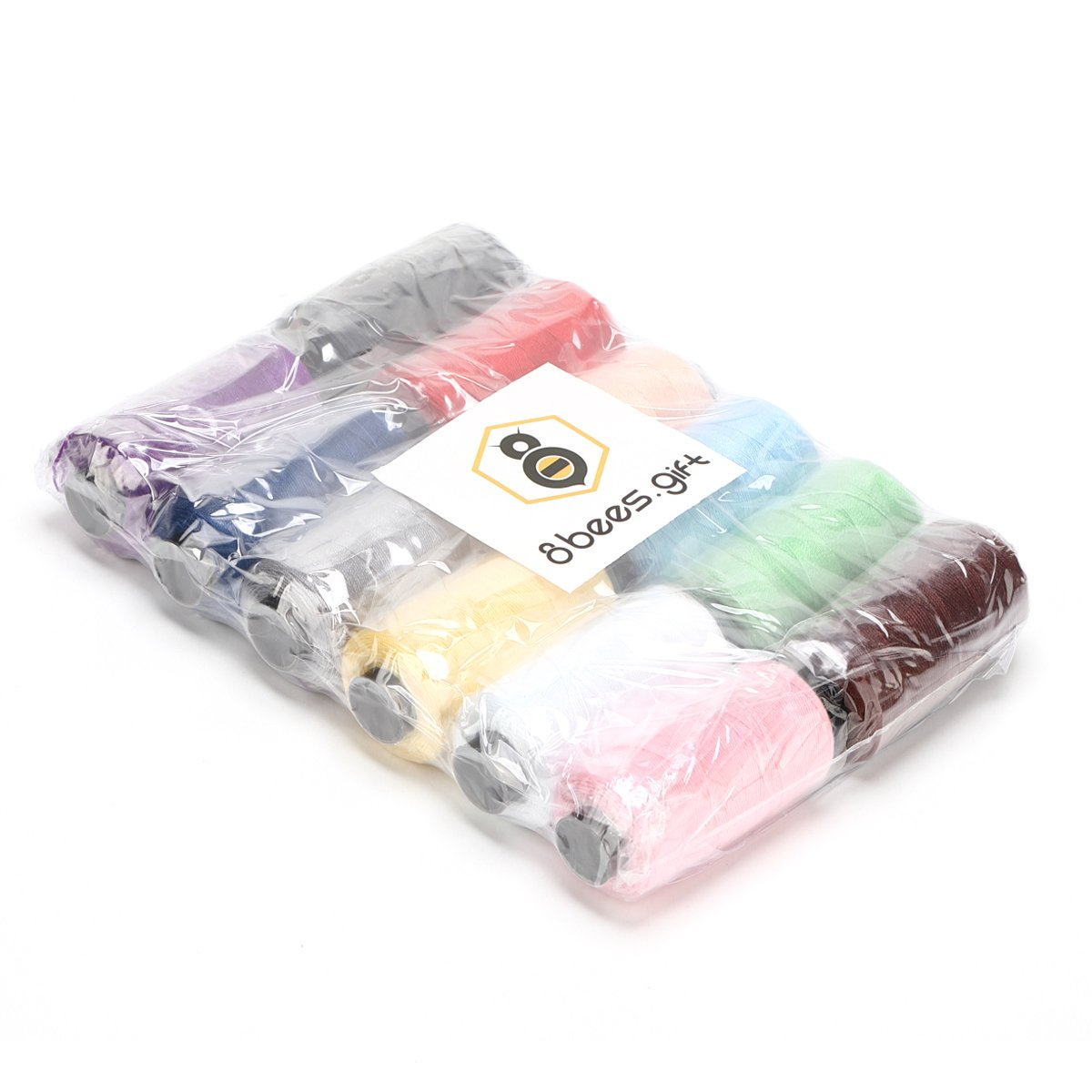 Polyester Sewing Thread Spool 12 Assorted Colors 180 Yards Each for Carpet Canvas Jeans DIY Sewing