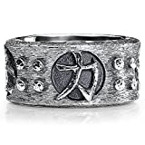 Samurai Band Ring Scott Kay Sterling Silver Ring For Men-Size 11