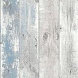 Driftwood Wallpaper Nautical Blue 670508
