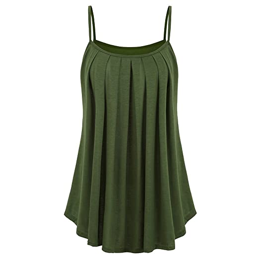 ec3db7b4052 JOHEAVA Sexy Plated Cami Tank Tops 2018 Plus Size Summer Cool Sleeveless  Casual Blouses for Women