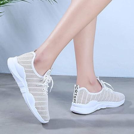 YWLINK Malla Casual para Mujer Zapatos Casuales Ligeros Antideslizantes Zapatillas Deportivas Corriendo Transpirable Ciclismo El FúTbol MontañIsmo Viajes Al Aire Libre Yoga