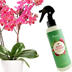 Floro Orchid Spray, 8 Ounce, Plant Food Mist, Enhances Growth, Provides Food, Energy and Moisture, No Mixing or Diluting Needed, Ready to Use Formula for Indoor Potted Plants