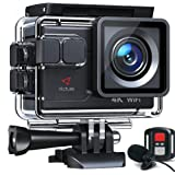 Victure Action Camera AC700 4K 30 fps/20 MP EIS Sports Action Camera PC cámara web con micrófono externo control remoto…