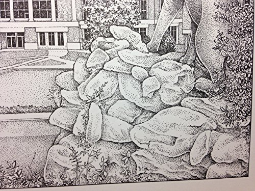 Western Carolina University - Bell Tower 11''x14'' pen and ink print by Campus Scenes (Image #3)