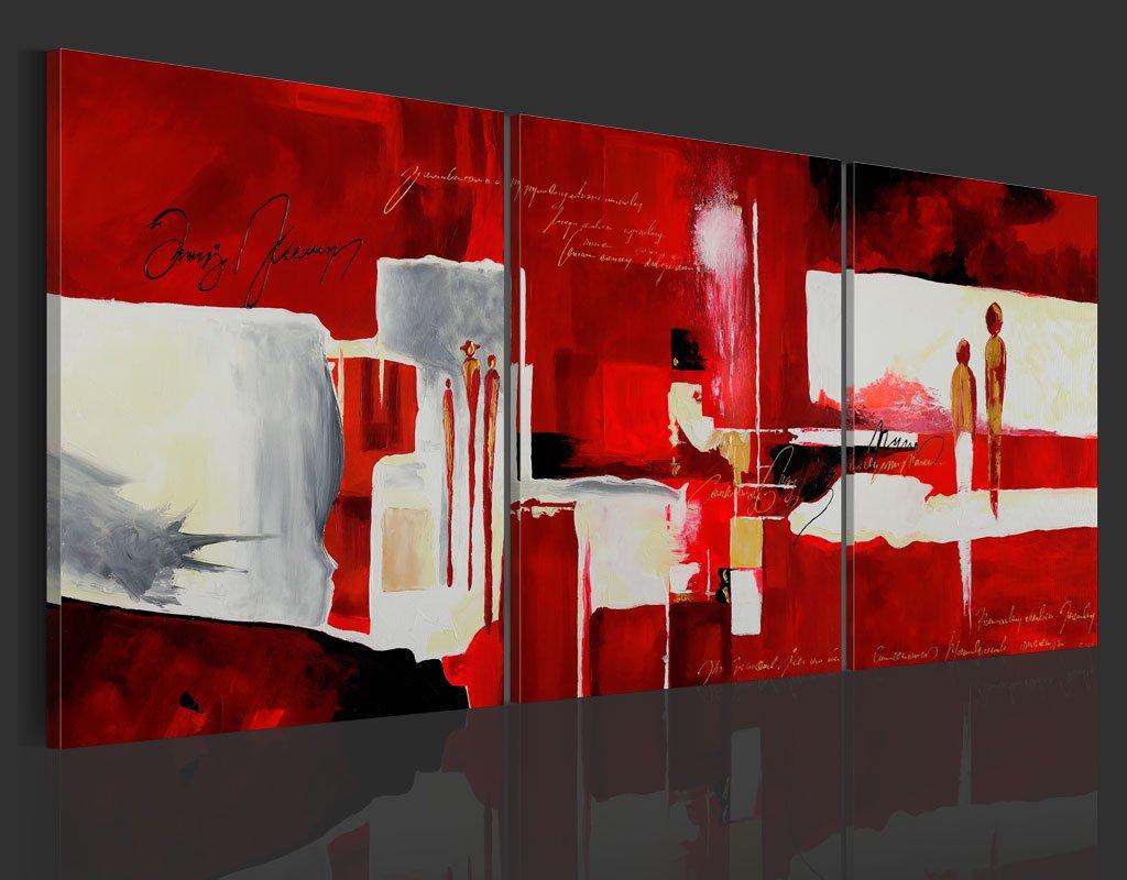 Murando handgemalte Bilder 180x80cm Gemälde 3 TLG TLG TLG rot beige 92279 4ebc41