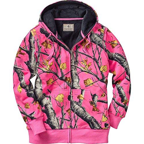 Legendary Whitetails Womens Hideaway Camo Hoodie (Big Game Blaze Pink, XX-Large)