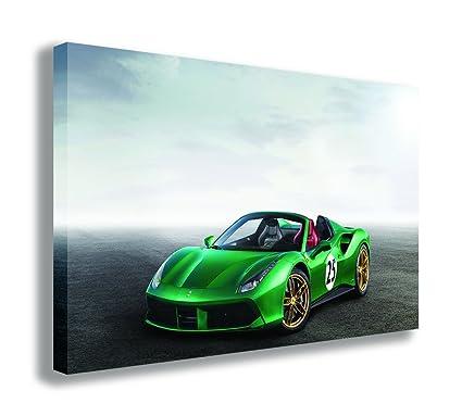 2017 Ferrari 488 Spider >> Amazon Com 2017 Ferrari 488 Spider The Green Jewel Canvas