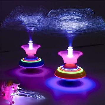 RG-FA Novedad Light Fiber Spinning Top Music Luminous Music Gyro ...